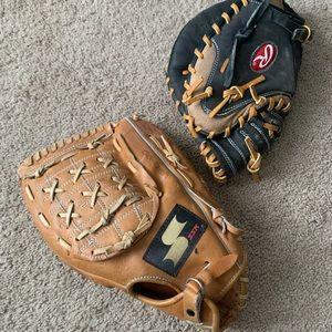 Adult SSK & Rawlings Baseball Gloves